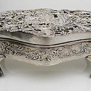 Very Large English Sterling Jewelry Box by William Comyns