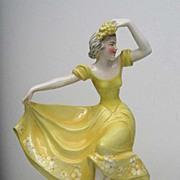 KATZHUTTE Porcelain  Dancing Lady Figure