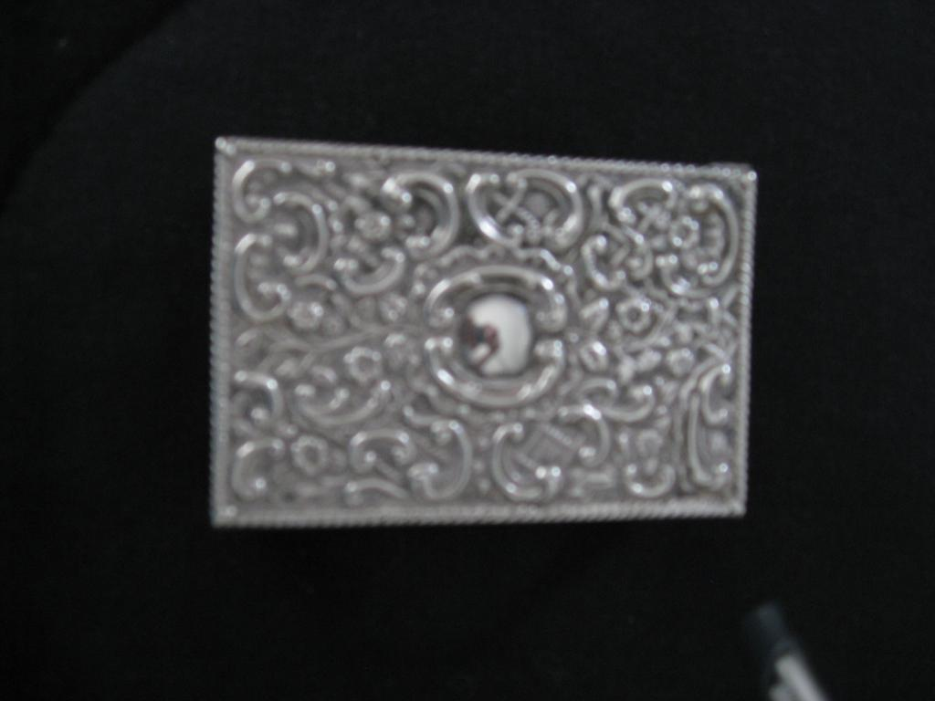 English Sterling Repousse Match Stick Holder