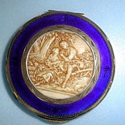 Italian Silver and Enamel Cameo Compact