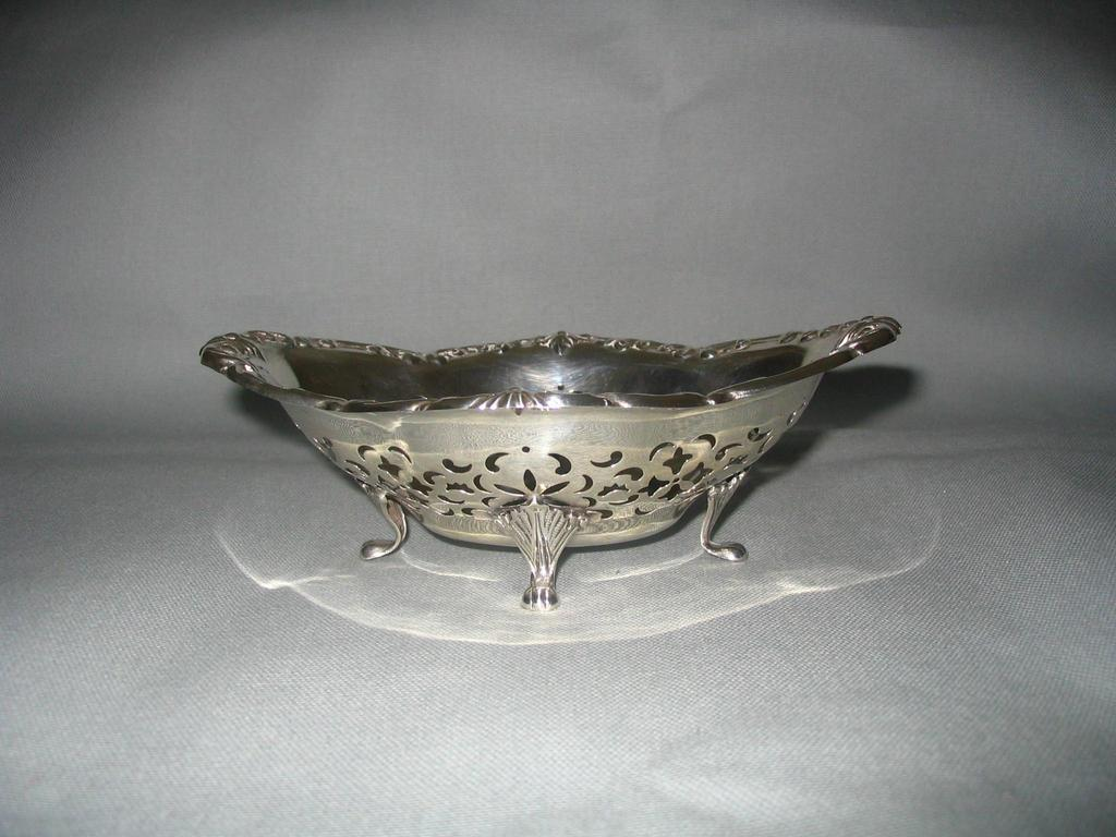 Sterling Oval Pierced Bowl