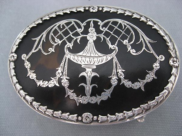 English Hallmarked Sterling Jewelry Box