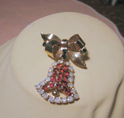 Hobe Christmas Rhinestone Loaded Bell
