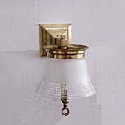 Antique Brass Historic Revival Fireplace Wall Mount Gas Lights Ca.1860