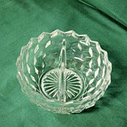 American Clear Fostoria Divided Mayo Dish