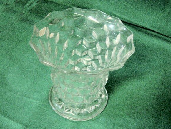 "Flared 5 3/8"" Fostoria American Clear Vase"