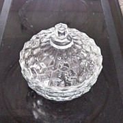 American Clear Whitehall Covered Candy Dish - Red Tag Sale Item
