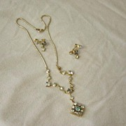 CM 12 Karat Gold Filled Necklace And Earrings