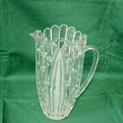 Vintage Crystal Broken Panel Water Pitcher