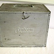 Vintage Sunbeam Metal Iron Carrying Box