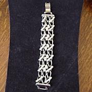 Silver Plated Chunky Linked Bracelet