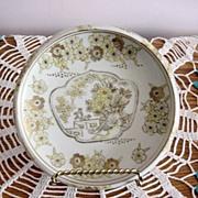 Hand Painted Gold Imari Rimmed Dish