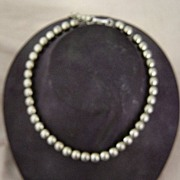 Monet Silver Beads Necklace