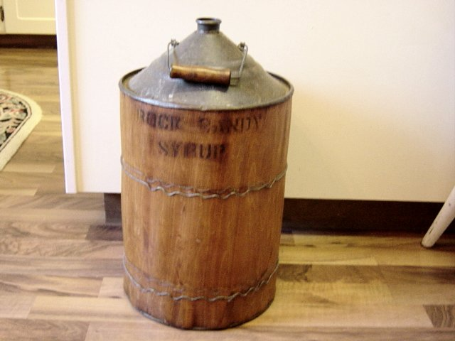 Antique Rock Candy Syrup Barrel