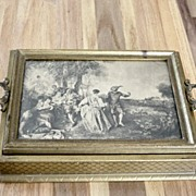 Vintage Victorian Picture Dresser Box Or Bible Box