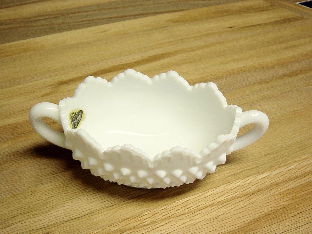 Fenton Hobnail Milk Glass Nappy