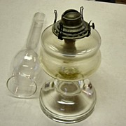 Vintage Clear Glass Oil Lamp