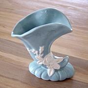 Vintage Weller Cameo-Blue Pottery Vase