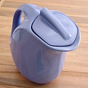 Vintage Hall Corn Flower Blue Pitcher With Lid