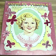 Vintage 1958 Shirley Temple Paper Doll And Clothes