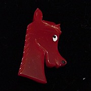 J.L. Shultz Red Pony Horse Head