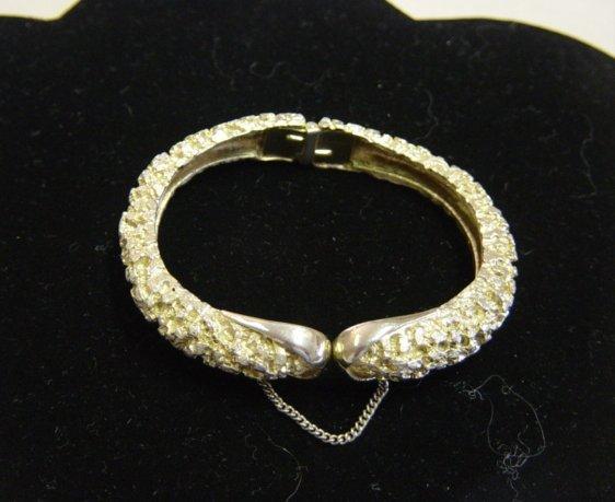 Textured Snake Shape Clamp Bracelet