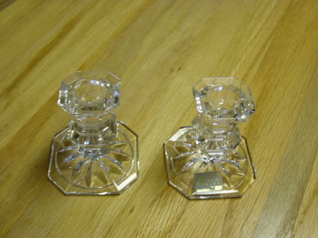 Mikasa  Slovenia Glass Candle Stands