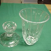 Vintage Hurricane  Lamp Pressed Glass