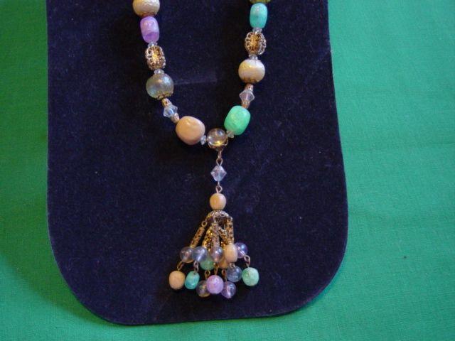 Vintage Multicolor Drop Necklace