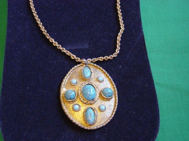 Vintage HOB'E Patent # Drop Pendent Necklace