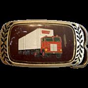 Aminco Heritage 1980 Semi Truck Driver Belt Buckle