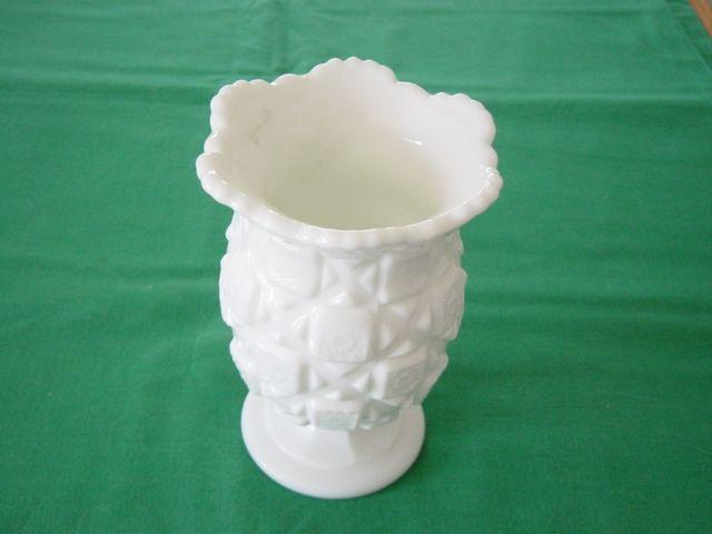 Westmoreland Quilt Patter Footed Vase