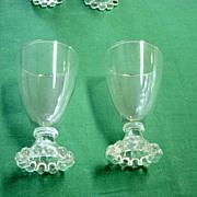 Vintage 12 Bead Candlewick 3 Oz. Glasses