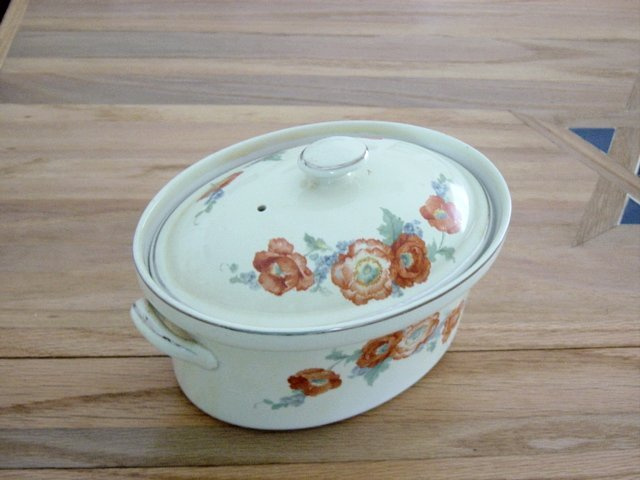 Vintage Hall's Orange Poppy Covered Casserole