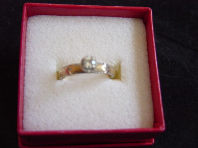 Vintage Pink Gold Solitary Wedding Ring