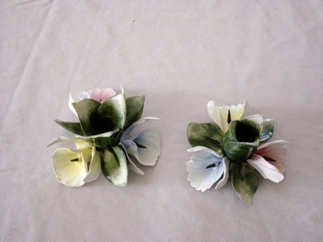 Capodimonte Delicate Small Porcelain Candle Holders