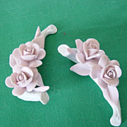 Nuova Capodimonte Fine China Pink Roses On White Base