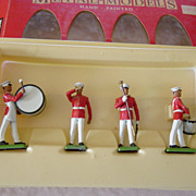 Britains Lead U.S. Marine Drum And Bugle Corps Metal Models