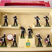 Britains Lead Royal Marine Drums And Bugle 10 Models In Box