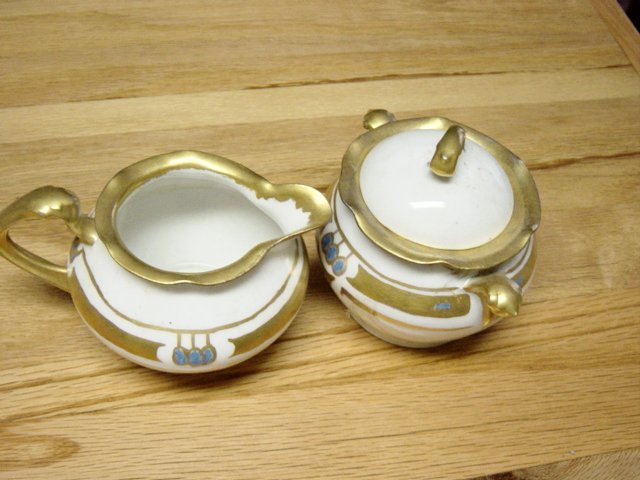 Vintage R S Germany Cream And Sugar Bowl