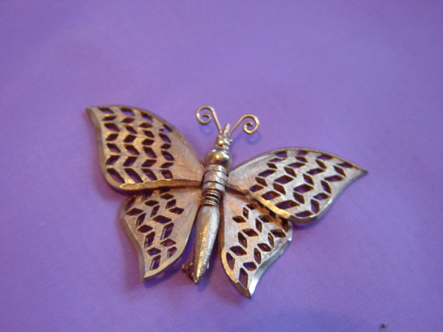 Gold Brushed And Polished  Butterfly