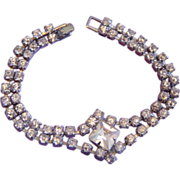 Vintage Rhinestone Double Row Bracelet