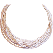 White Japan Seed Beads Necklace