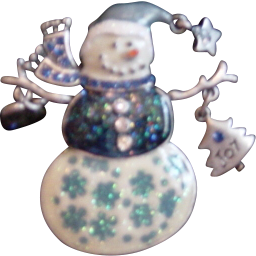 KC Love/Joy/Snowman Pin