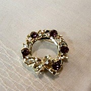 Gerrys Amethyst Stones In Gold Pot Metal Brooch