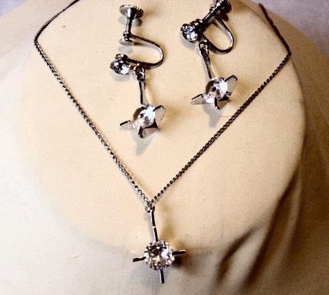 Weiss Necklace/Earrings Silver