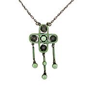 Arts & Crafts Marius Hammer Silver & Enamel Necklace