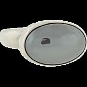 GEORG JENSEN Sterling & Raised Hematite Ring