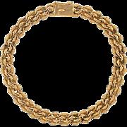 Victorian 14kt Rose Gold Chain Link Bracelet