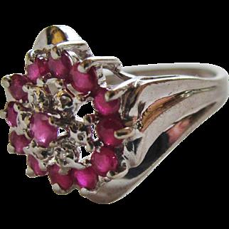 Ruby White Gold Ring